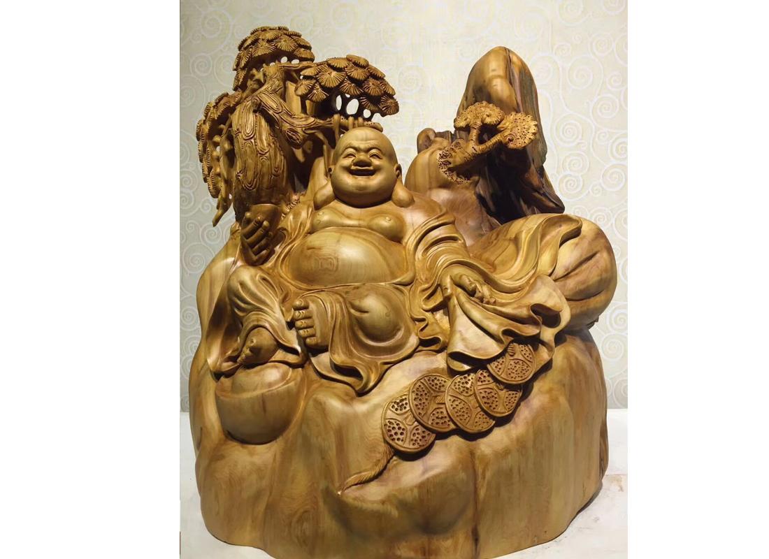 崖柏根雕工艺品佛像木雕家居摆件 礼品 厂家批发雕刻木质工艺品