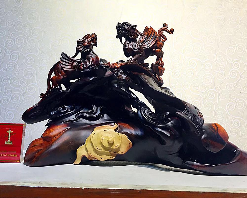 家居木雕摆件手工艺品人物雕刻