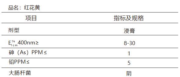 红花黄规格参数