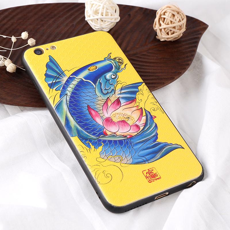 蓝鲤鱼iphoness手机壳