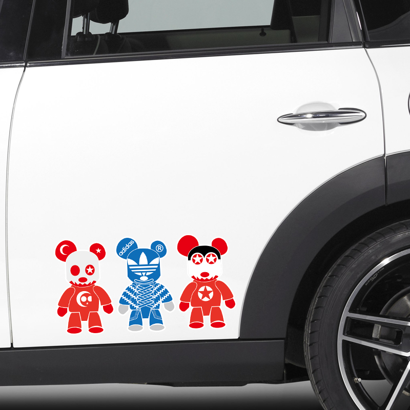 MIMI暴力熊3汽车车身贴