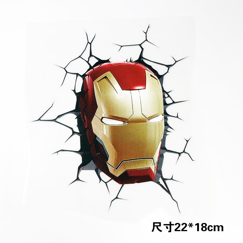 超级英雄裂痕贴