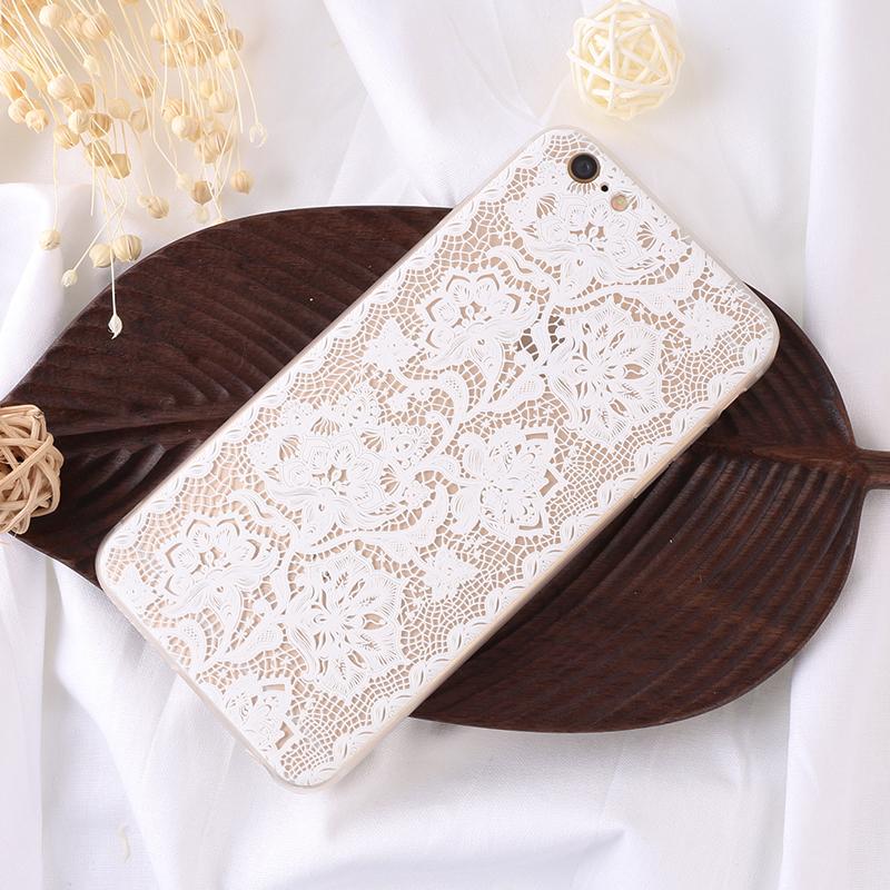 手机壳-镂空白花