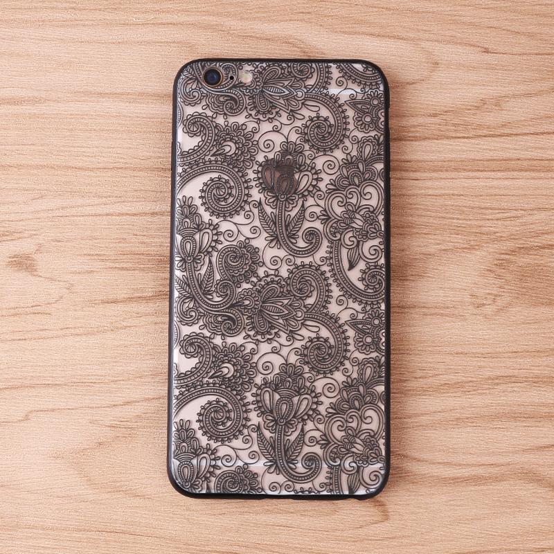 手机壳-镂空黑花