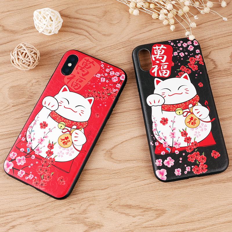 手机壳-万福招财猫