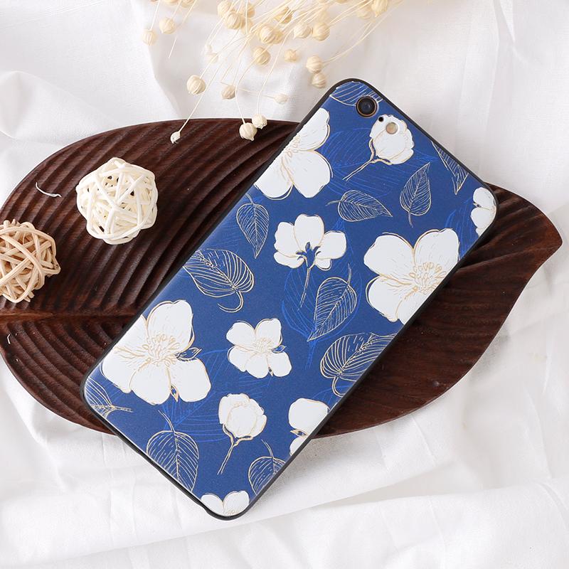 手機殼-白花