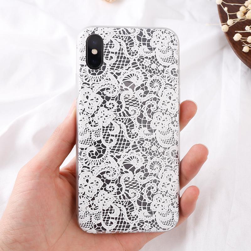 手機殼-镂空白花3