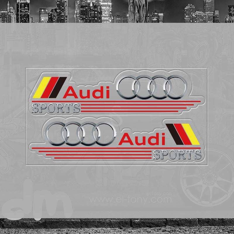 奥迪新logo后视镜