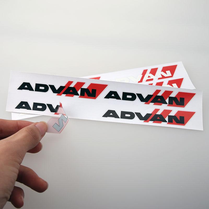 advan轮毂车贴