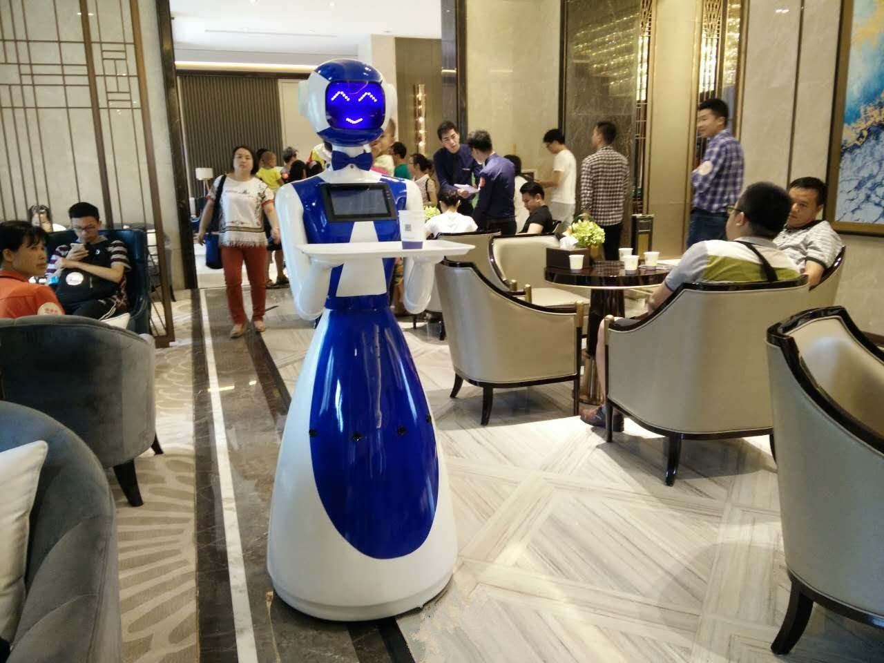 送餐机器人案例-广州巢哥智能餐厅