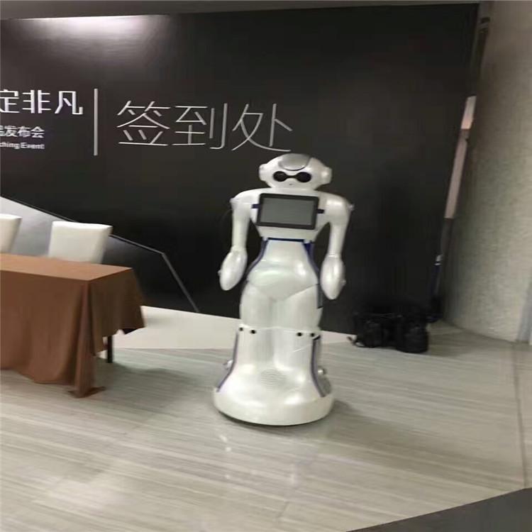 服务机器人案例-展会签到处