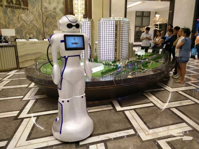 大白机器人案例-售楼中心