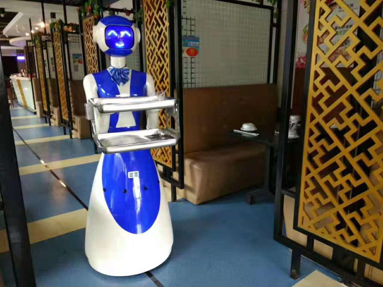 深圳罗湖喜洋洋餐厅送餐机器人案例