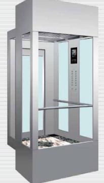 阿尔法不锈钢方形观光电梯