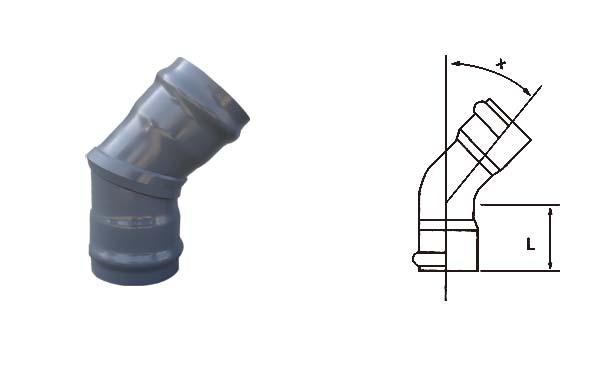 pvc承插式45°弯头