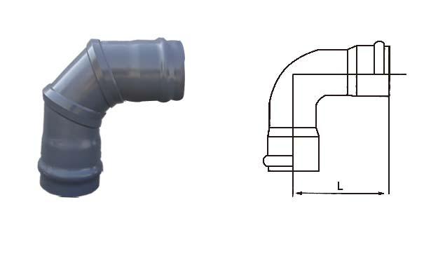 pvc焊接管件承插式90°弯头