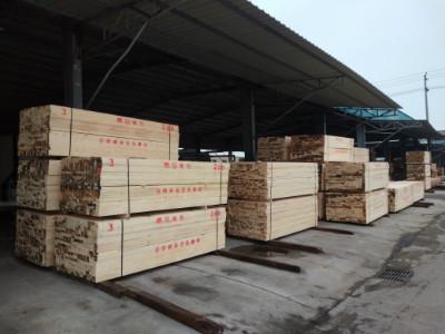 新西兰松建筑木方-九江木材批发市场用的相当多