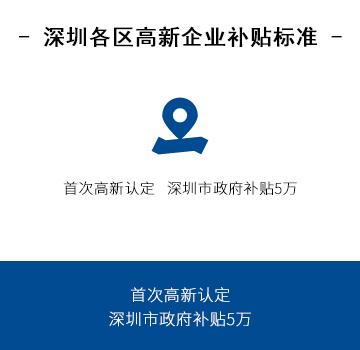 深圳各区高新企业补贴标准