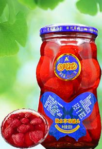 明花糖水草莓罐头