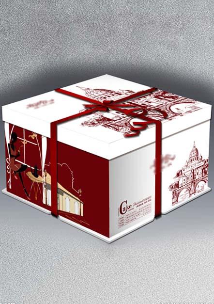 6寸新经典方蛋糕盒