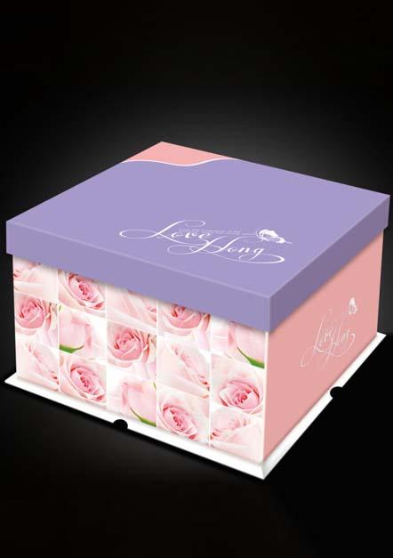 6寸幸福生活蛋糕盒