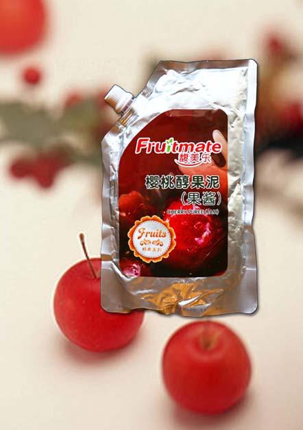 樱桃醇果泥果酱