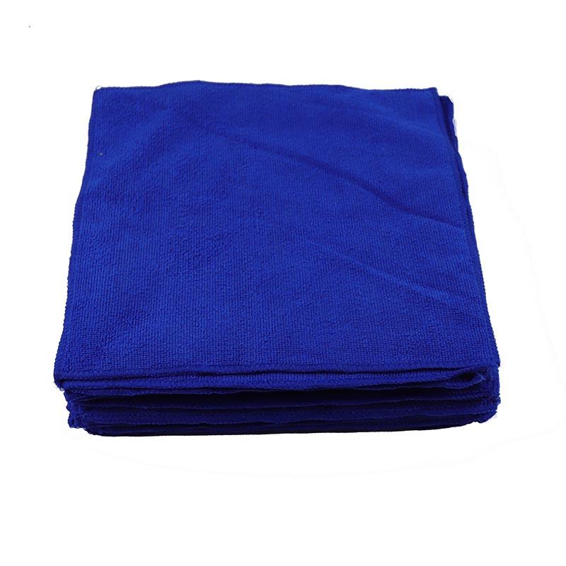 纤维毛巾蓝色