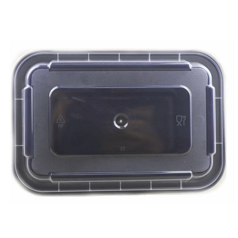 黑色方形餐盒