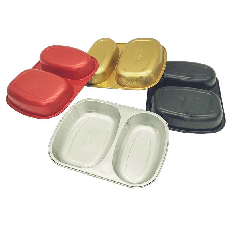双格锡纸餐盒
