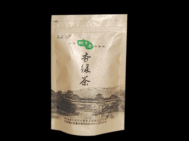 绿茶自立袋
