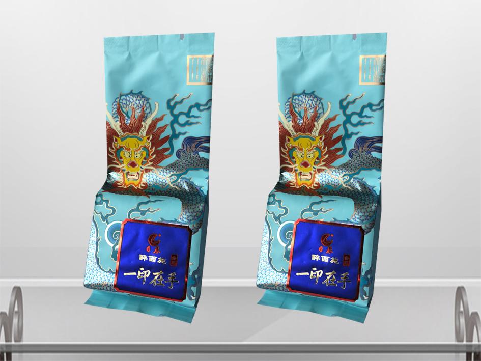 日春茶叶包装袋-烫金效果