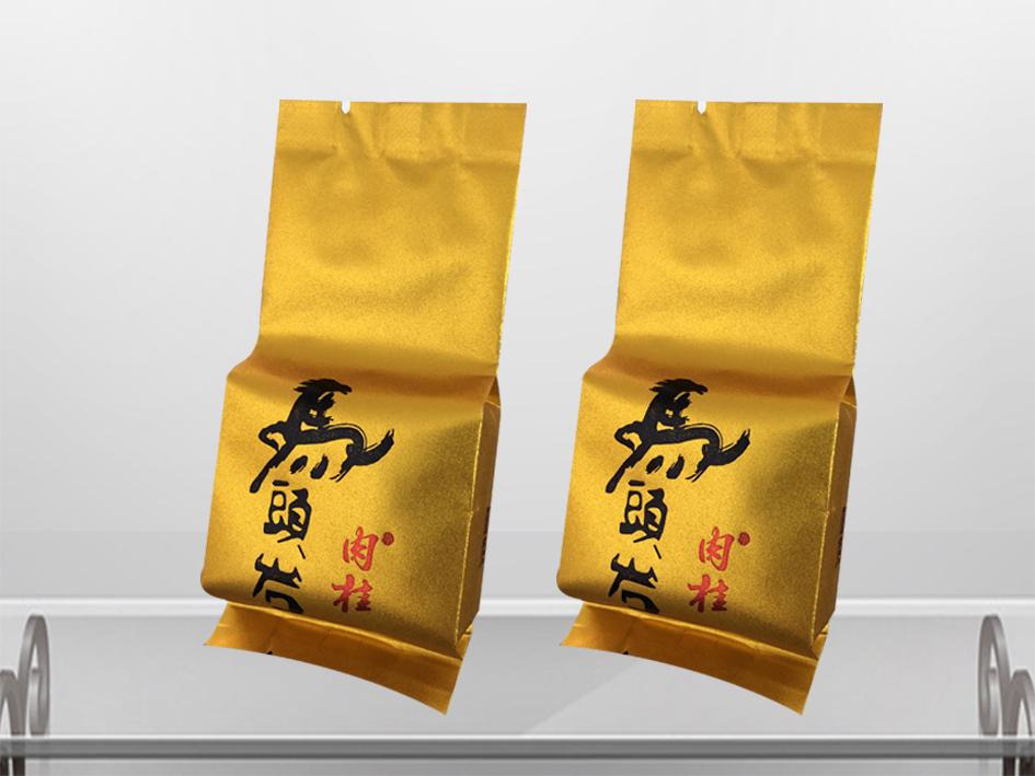 肉桂茶叶包装袋-烫金效果
