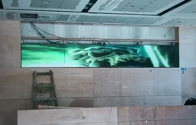 半室内led显示屏临沂北京路整容医院案例展示