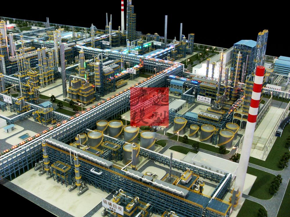 煤基烯烃沙盘局部模型