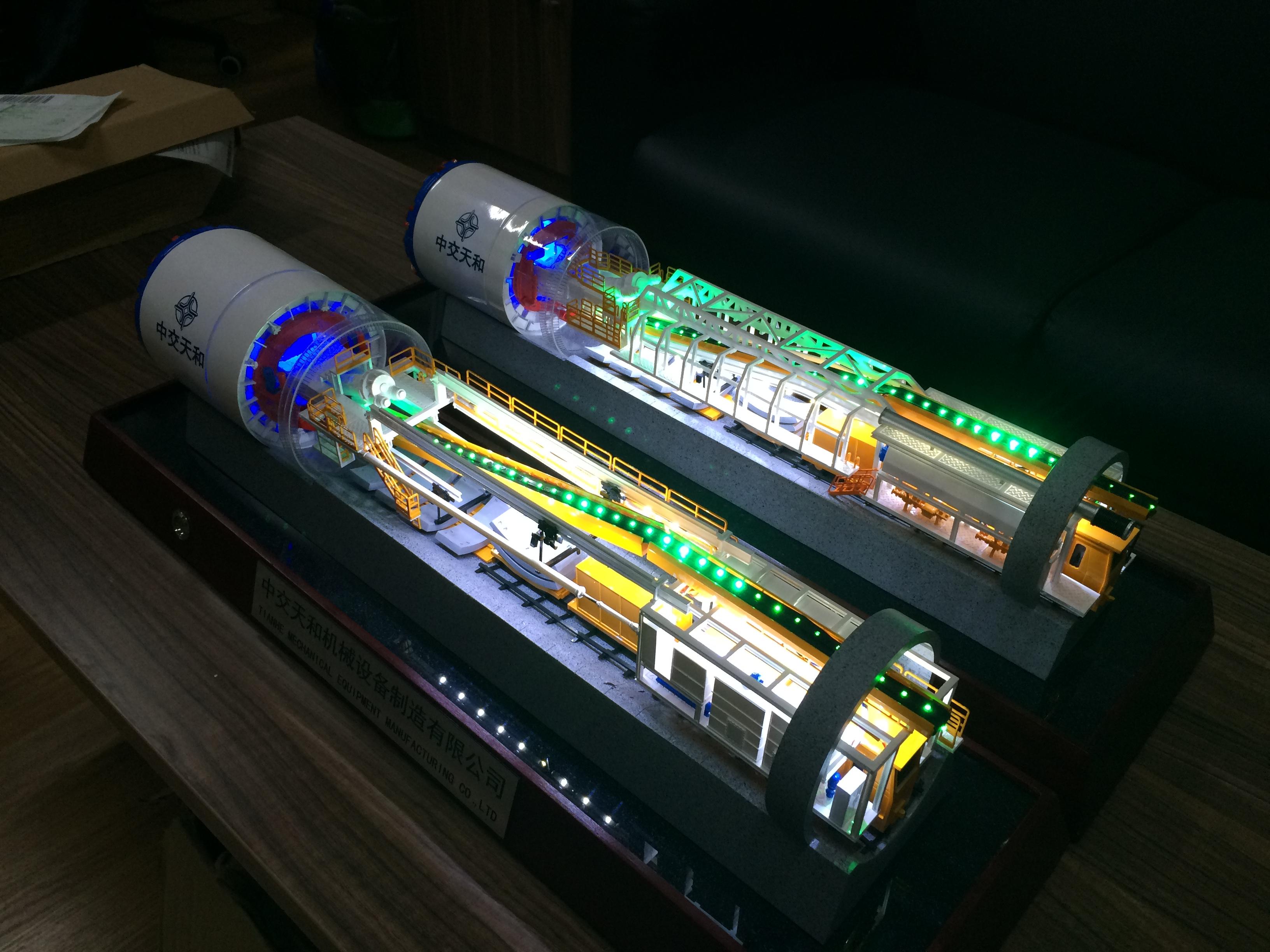 中交天和盾构机模型1