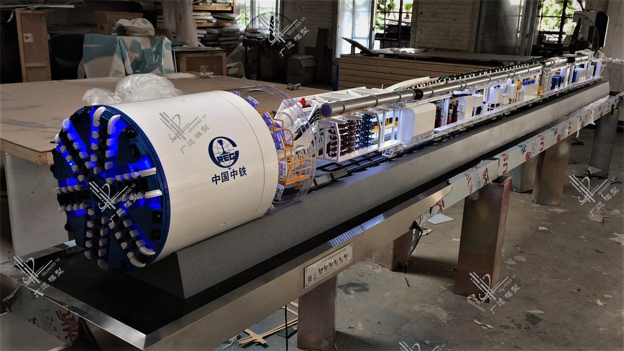 中铁装备盾构机模型