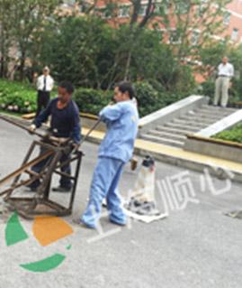 南京西路(聚安大厦)管道疏通案例