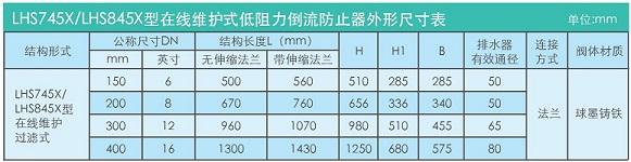 在线维护式低阻力倒流防止器LHS745X