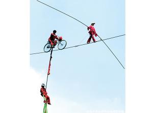 空中自行车