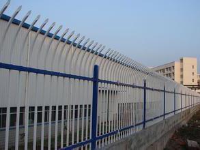 单向弯头锌钢围墙护栏