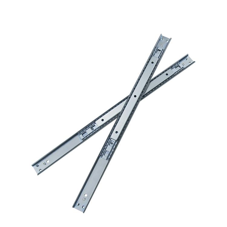 27mm宽定制升降桌钢珠滑轨【2704B440-ZP】