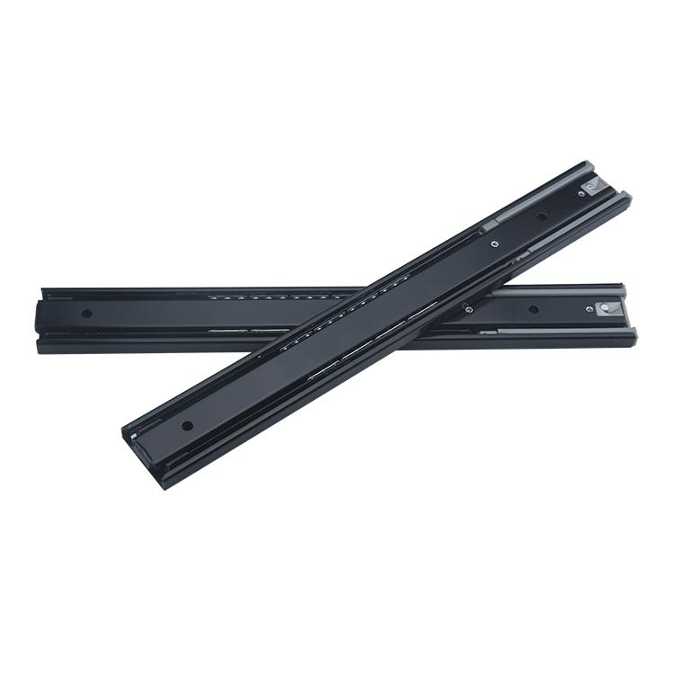 45mm宽家具橱柜阻尼静音钢珠滑轨【4510-BZ】