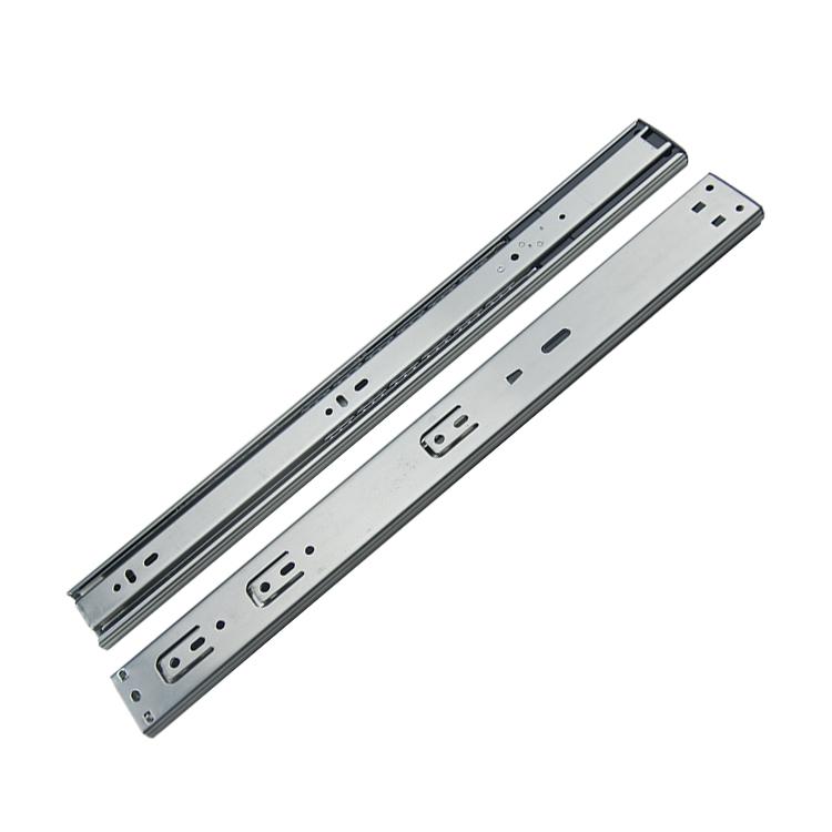45mm宽阻尼静音双弹簧钢珠滑轨【4510】