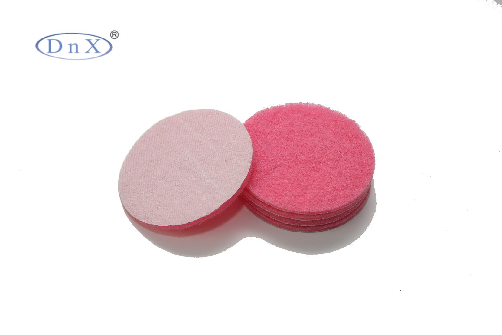 粉色植绒圆形百洁布