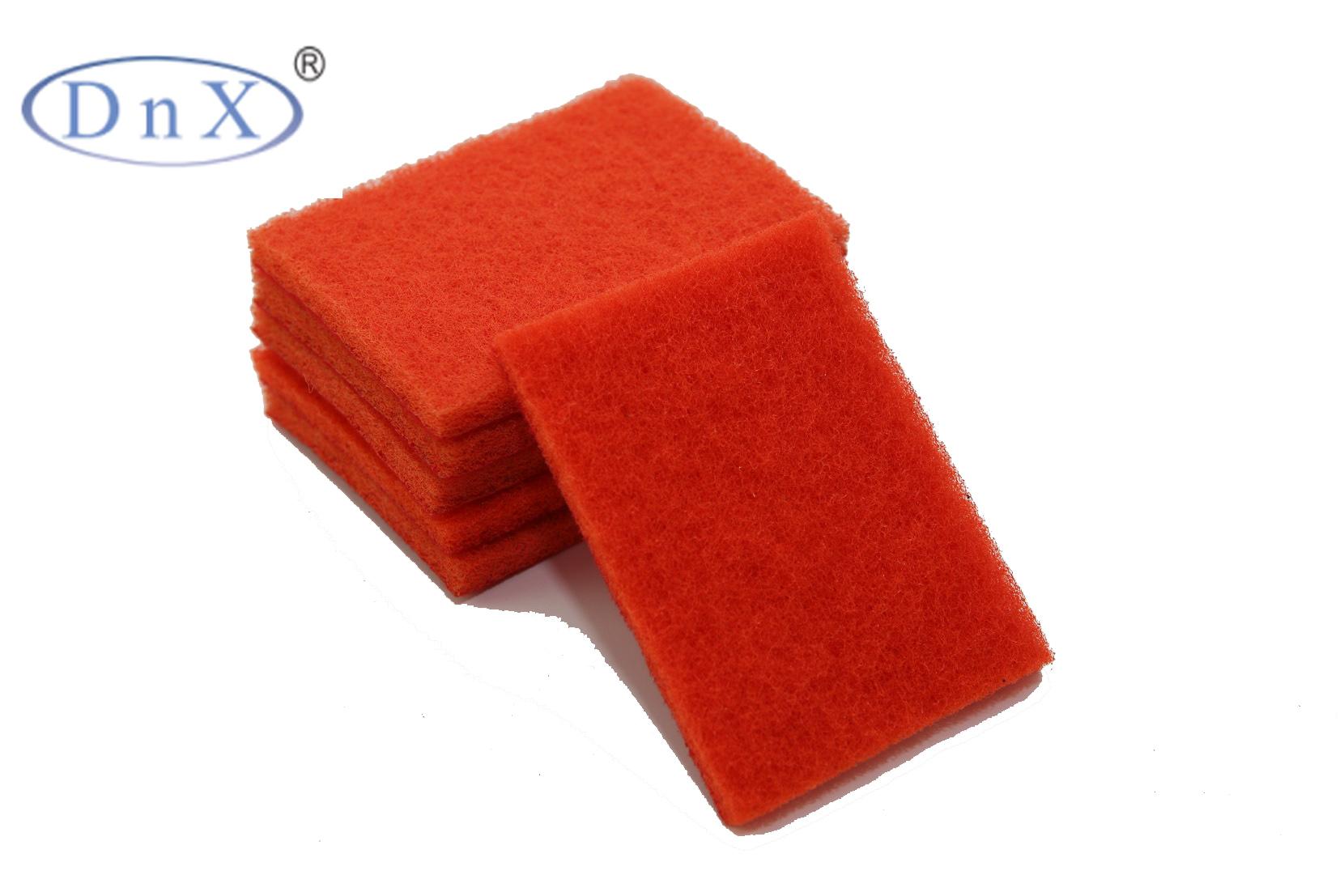 橙色植绒方形百洁布