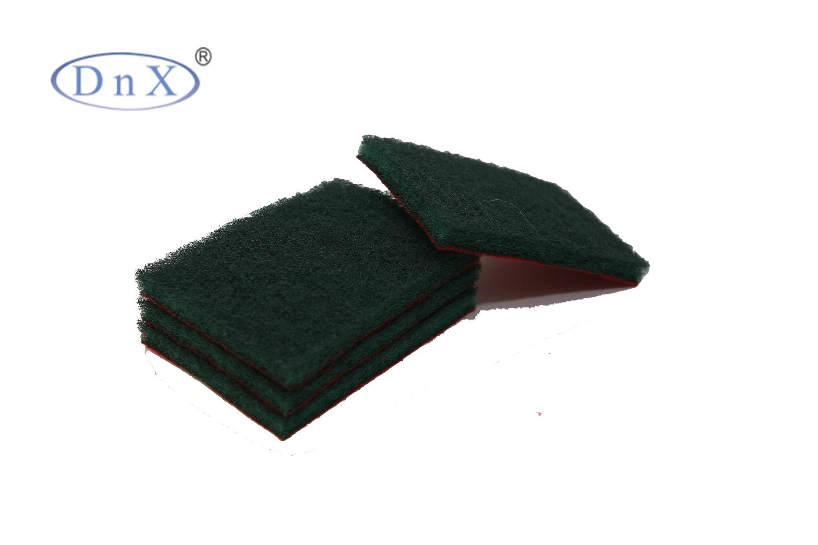 绿色植绒方形百洁布