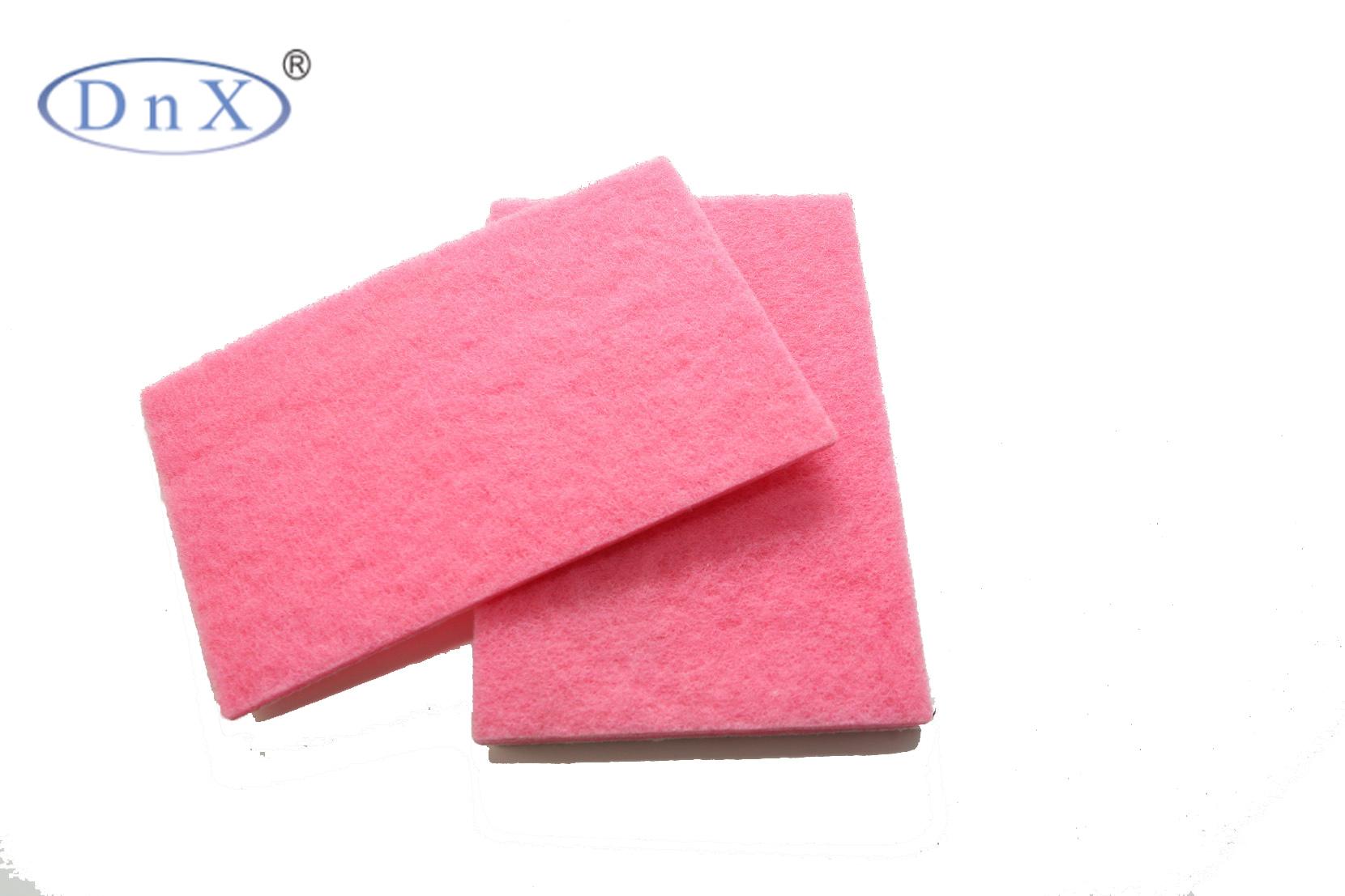 粉色方形百洁布