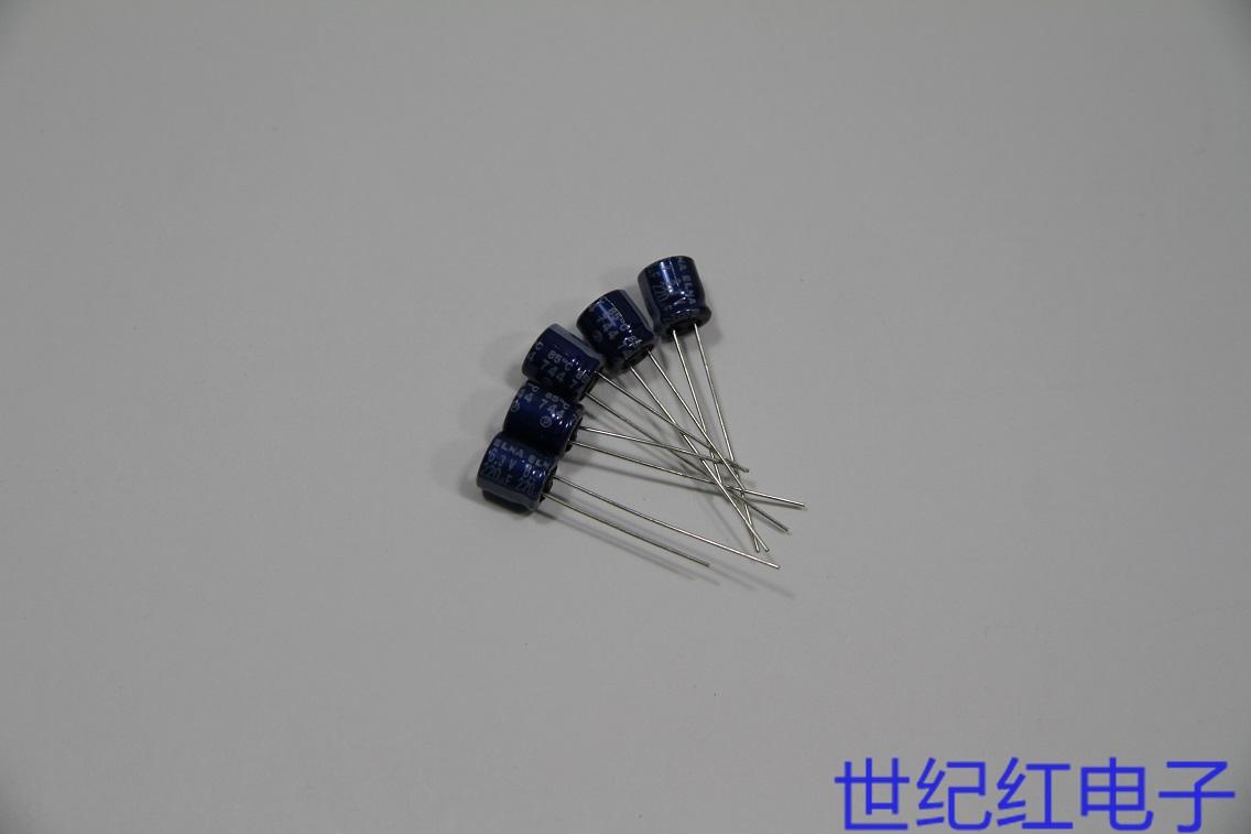 全新日本ELNA蓝袍小尺寸插件电解电容 220UF 6.3V