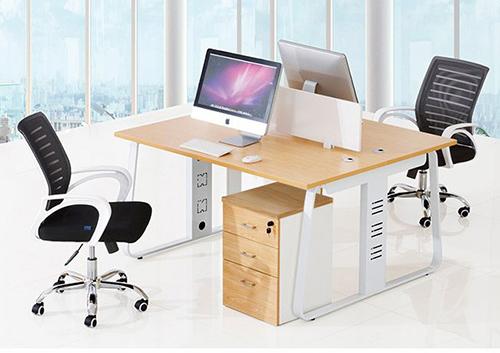 职员办公桌(上小下大脚架)