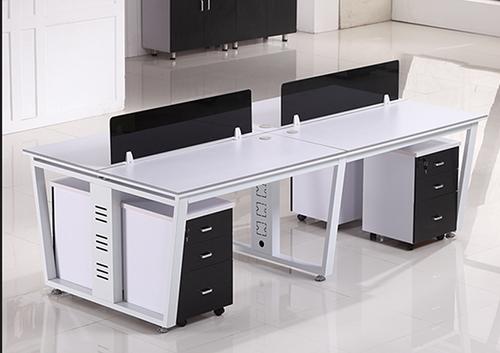 职员办公桌(梯形脚架)